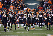 The Cincinnati Bengals run onto the field for the NFL week 10 regular season football game against the Cleveland Browns on Thursday, Nov. 6, 2014 in Cincinnati. The Browns won the game 24-3. ©Paul Anthony Spinelli