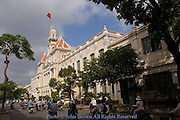 The architectural influence of French colonialism on Saigon's (Ho Chi Minh City) City Hall can be seen by visitors and locals alike in Vietnam.