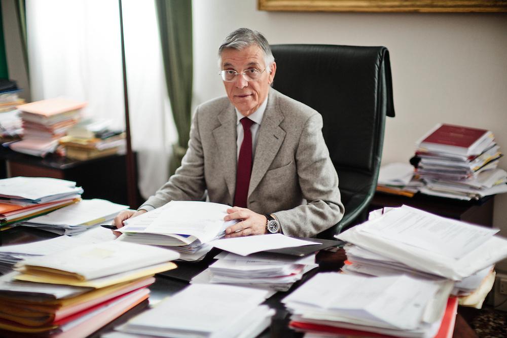10 FEB 2012 - Venezia - Il dott. Arturo Toppan, presidente del Tribunale Ordinario