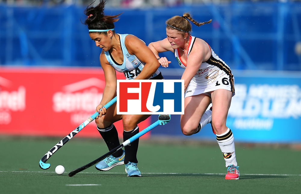 New Zealand, Auckland - 24/11/17  <br /> Sentinel Homes Women&rsquo;s Hockey World League Final<br /> Harbour Hockey Stadium<br /> Copyrigth: Worldsportpics, Rodrigo Jaramillo<br /> Match ID: 10307 - ARG-GER<br /> Photo: (15) GRANATTO Maria Eugenia against (16) SCHAUNIG Maike