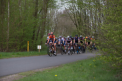 Chantal Blaak (NED) of Boels-Dolmans Cycling Team leads the chase in the first lap of Stage 3 of the Healthy Ageing Tour - a 154.4 km road race, between  Musselkanaal and Stadskanaal on April 7, 2017, in Groeningen, Netherlands.