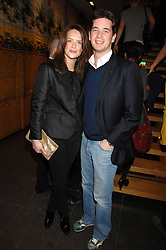 ARABELLA MUSGRAVE and the HON.JAMES TOLLEMACHE at a party hosted by Mulberry to celebrate the publication of The Meaning of Sunglasses by Hadley Freeman held at Mulberry 41-42 New Bond Street, London on 14th February 2008.<br />