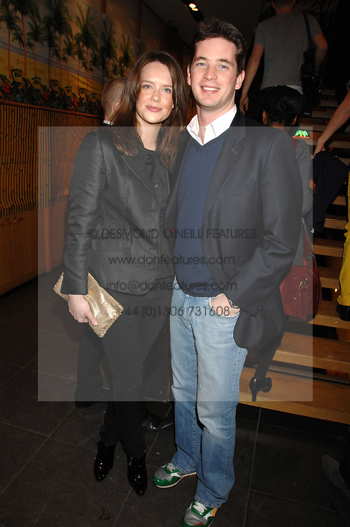 ARABELLA MUSGRAVE and the HON.JAMES TOLLEMACHE at a party hosted by Mulberry to celebrate the publication of The Meaning of Sunglasses by Hadley Freeman held at Mulberry 41-42 New Bond Street, London on 14th February 2008.<br /><br />NON EXCLUSIVE - WORLD RIGHTS