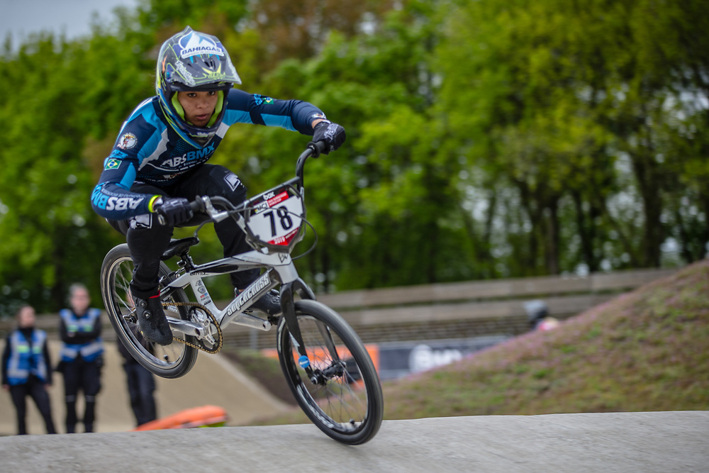 #78 (REIS SANTOS Paola) BRA during practice at Round 3 of the 2019 UCI BMX Supercross World Cup in Papendal, The Netherlands