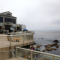The exterior deck and tide pools at the Monterey Bay Aquarium, which is located on Cannery Row in Monterey, California, on Friday July 13, 2012.(AP Photo/Alex Menendez)