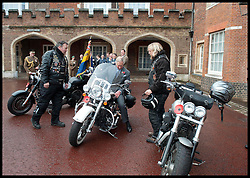 HRH Prince Charles meets Hells Angels and ambassadors for the Royal British Legion launch London Poppy Day to raise £1m. Photo By i-Images