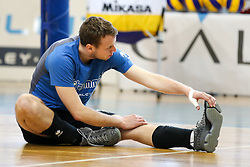 Tine Kvas of Calcit Volley during volleyball match between Calcit Volley and Salonit Anhovo in Semifinal of Slovenian League 2017/18, on April 14, 2018 in Sportna Dvorana, Kamnik, Slovenia. Slovenia. Photo by Matic Klansek Velej / Sportida