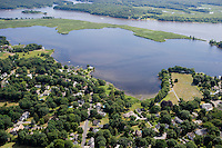 Aerial of Connecticut River and Essex Harbor, Essex, CT
