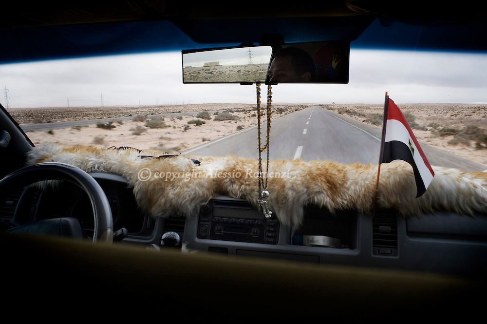 EGYPT. Road to Saluum (border between Egypt and Libya) on February 24, 2011. ALESSIO ROMENZI