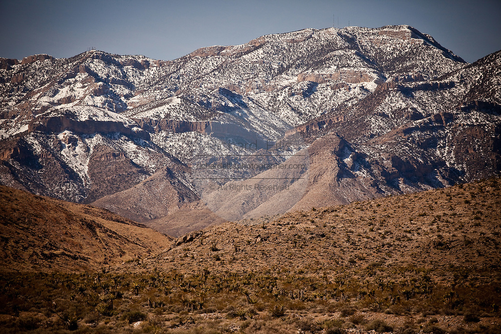 High desert area of Red Rock Canyon outside Las Vegas, Nevada.