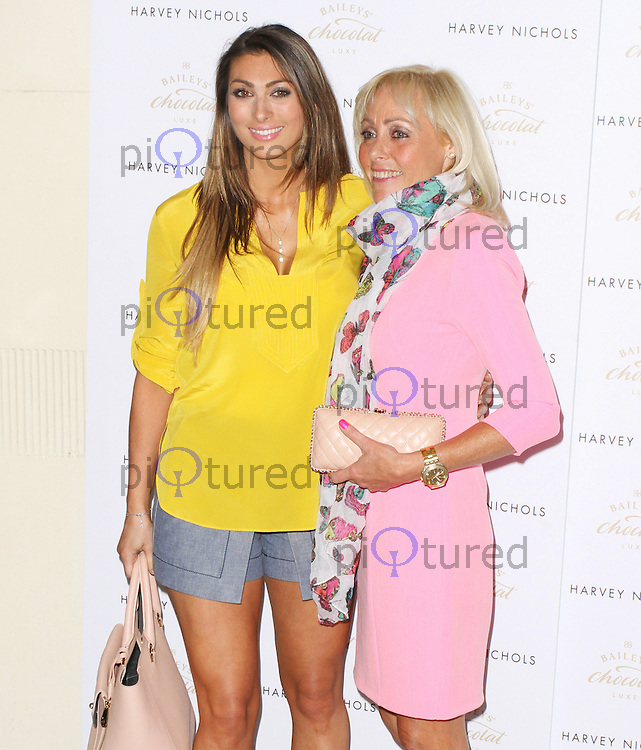 Luisa Zissman & Christina Kalozois, Baileys Feaster Egg Hunt, Harvey Nichols, London UK, 15 April 2014 Photo by Brett D. Cove