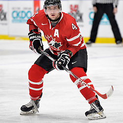 WHITBY, - Dec 16, 2015 -  Game #8 - Czech Republic vs. Canada East at the 2015 World Junior A Challenge at the Iroquois Park Recreation Complex, ON. Lucas Batt #4 of Team Canada East during the second period.<br /> (Photo: Shawn Muir / OJHL Images)