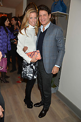 CAROLINA GONZALEZ-BUNSTER and STEFANO BONFIGLIO at a party hosted by Melissa Del Bono to celebrate the launch of her Meli Melo flagship store at 324 Portobello Road, London W10 on 28th November 2013.