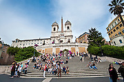 The Spanish Steps in Rome, Italy, between the Piazza di Spagna at the base and Piazza Trinità dei Monti. (Sam Lucero photo)