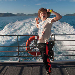 Max Coming Back from the Great Barrier Reef, Whitsunday islands,  Queensland, Australia