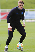 England goallkeeper Jack Butland during England's Euro 2020 Qualifier training session at St George's Park National Football Centre, Burton-Upon-Trent, United Kingdom on 23 March 2019.