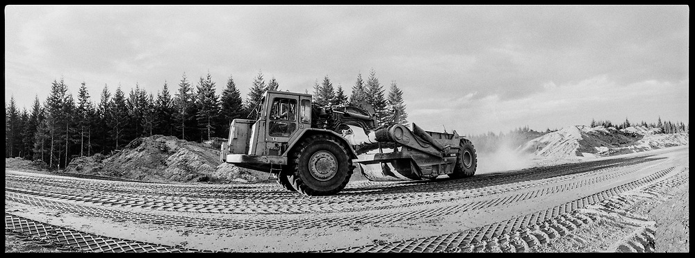 Highway Construction, Vancouver Island, BC, Canada