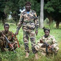 30/09/2013. Bossangoa. Republique Centrafricaine. Portrait du général Issa Israel qui commande les éléments de la ex-Seleka. @Sylvain Cherkaoui/Cosmos