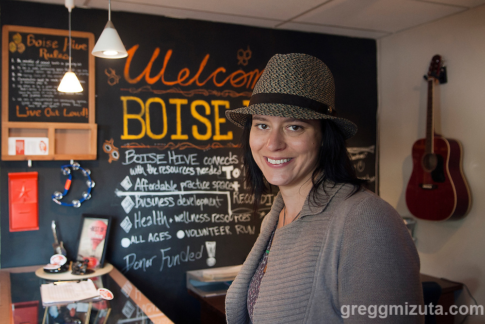Boise Hive Executive Director Juta Geurtsen in the lobby of the Hive on April 24, 2016 in Boise, Idaho.