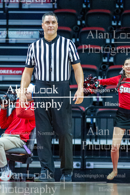 NORMAL, IL - November 20:  Referee Kalei Enterline during a college women's basketball game between the ISU Redbirds and the Huskies of Northern Illinois November 20 2019 at Redbird Arena in Normal, IL. (Photo by Alan Look)