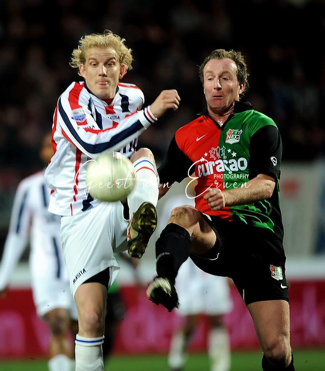 21-03-09 Voetbal:NEC Nijmegen:Willem II:Nijmegen<br /> Patrick Pothuizen en Frank Demouge<br /> Foto: Geert van Erven