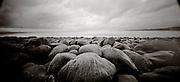 PL08704-00...OREGON - Pinhole image of rocks on the beach at Seaside.