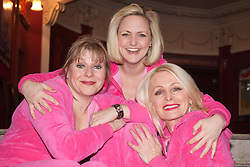 "© Licensed to London News Pictures. 20/02/202. London, England. L-R: Julie Coombe, Laura Checkley and Margi Clarke. ""Hormonal Housewives"" a comedy starring Margi Clarke, Laura Checkley and Julie Coombe embarks on a UK tour from 22 February to 13 May 2012, starting at the New Wimbledon Theatre. Photo credit: Bettina Strenske/LNP"