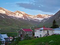 Houses in Siglufjörður, North Iceland.