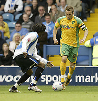 Photo: Aidan Ellis.<br /> Sheffield Wednesday v Norwich City. Coca Cola Championship. 06/05/2007.<br /> Norwich's Darren Huckerby takes on Sheffield's Yoann Folly