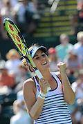 16.03.2015; Indian Wells; Tennis - Indian Wells 2015;<br />Belinda Bencic (SUI) jubelt <br />(Christopher Levy/Zuma Sports Wire/freshfocus)