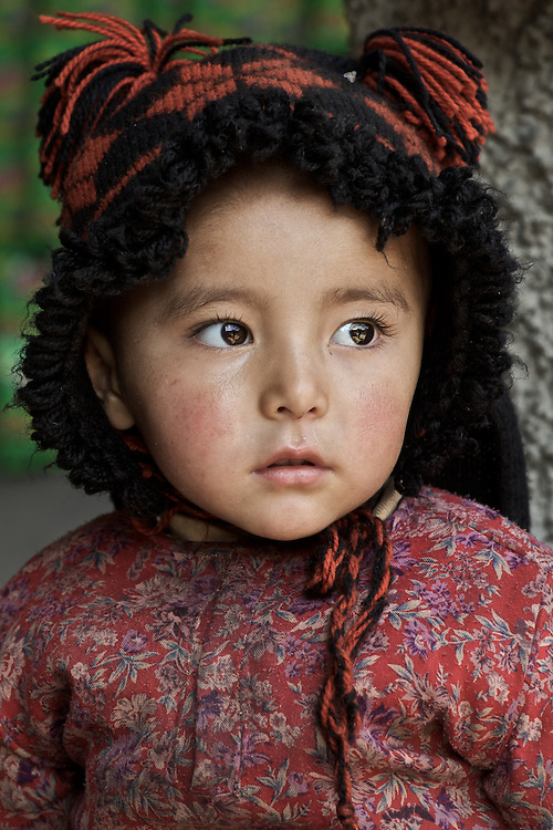 A young girl in the town of Kargil, Kargil District, Ladakh, J&K, India