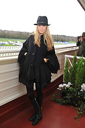 FLORENCE BRUDENELL-BRUCE at the Hennessy Gold Cup at Newbury Racecourse, Berkshire on 26th November 2011.