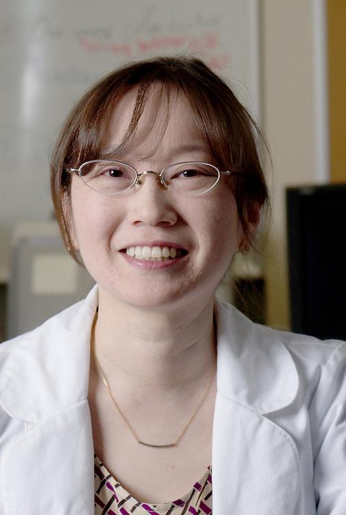 Assistant Professor of Chemical and Biomolecular Engineering Monica Burdick. Photo by Ben Siegel