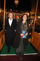 LYNNE FRANKS and JACK McMANUS at the gala night of Varekai by Cirque du Soleil at The Royal Albert Hall, London on 8th January 2008.<br />