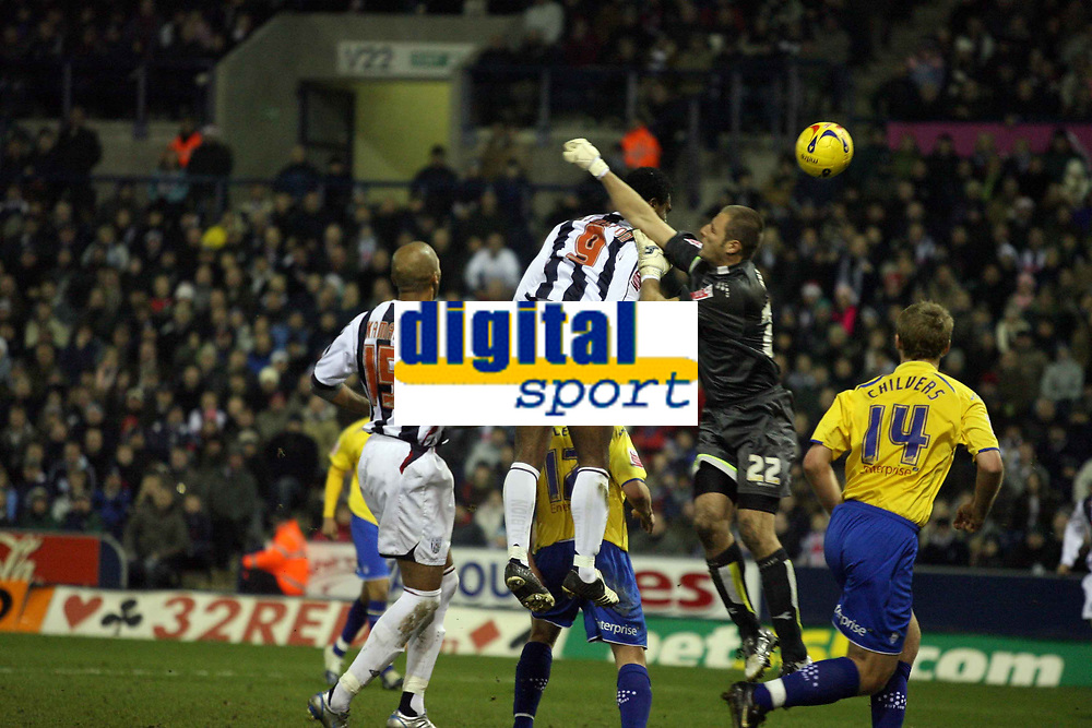 Photo: Rich Eaton.<br /> <br /> West Bromwich Albion v Preston North End. Coca Cola Championship. 26/12/2006. Nathan Ellington #9 scores in the second half to make it 4-2 to West Brom in the secondpast keeper Carlo Nash