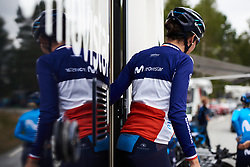 Aude Biannic (FRA) exits the team camper at Ladies Tour of Norway 2018 Team Time Trial, a 24 km team time trial from Aremark to Halden, Norway on August 16, 2018. Photo by Sean Robinson/velofocus.com