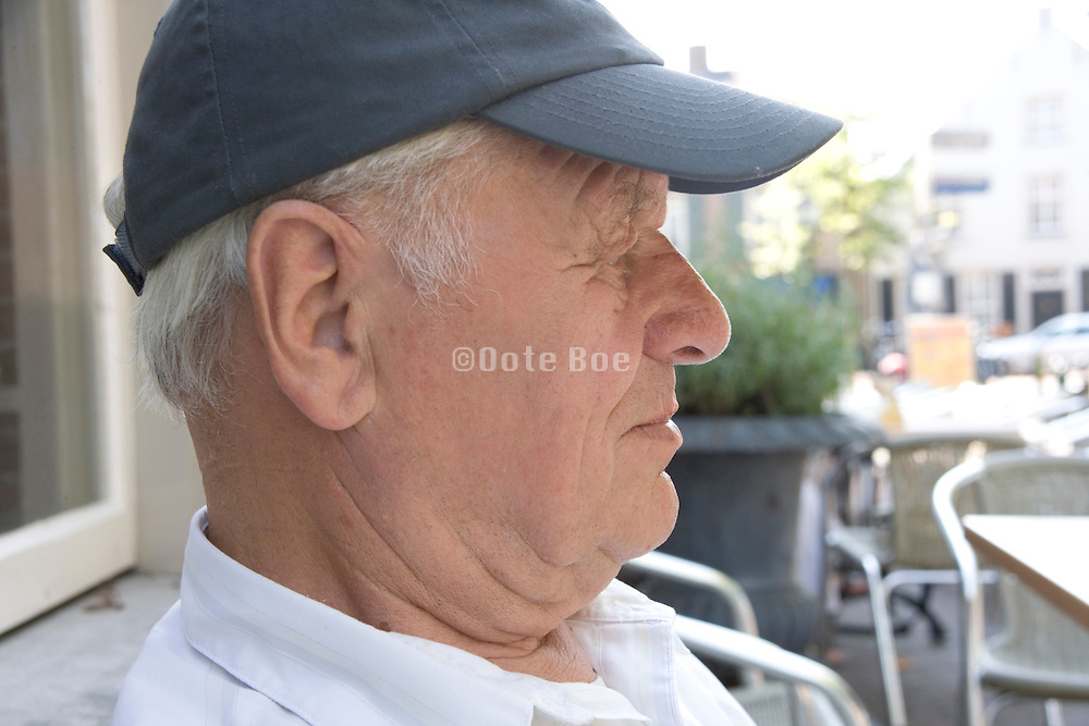 elderly man relaxing