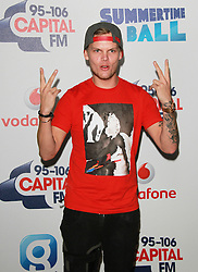 © London News Pictures. Avicii, Capital FM Summertime Ball, Wembley Stadium, London UK, 06 June 2015, Photo by Brett D. Cove /LNP