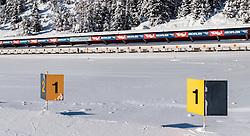 18.01.2017, Biathlonarena, Hochilzen, AUT, IBU Weltmeisterschaft Biathlon, Hochfilzen, Vorberichte, im Bild der Schiessstand // Preview for the Upcoming IBU Biathlon World Championships 2017at the Biathlonarena, Hochfilzen, Austria on 2017/01/02. EXPA Pictures © 2017, PhotoCredit: EXPA/ JFK
