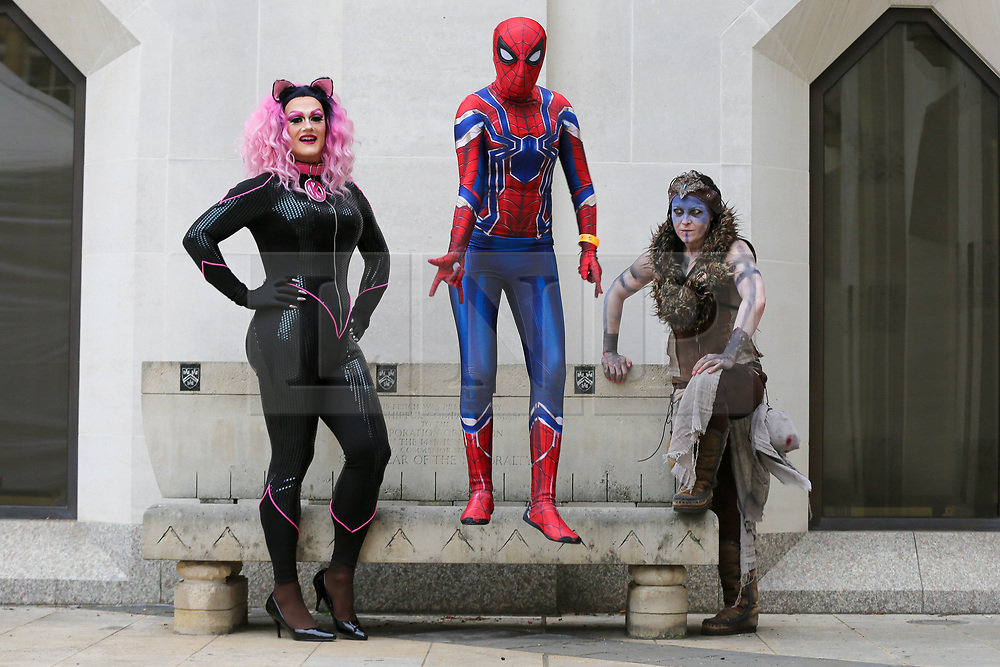 © Licensed to London News Pictures. 06/04/2019. London, UK. Video game fans dressed as iconic games characters take part in London Games Festival Character Parade.  Photo credit: Dinendra Haria/LNP