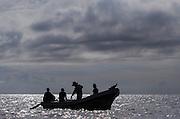 Commercial shark fishermen<br /> Quetzalito<br /> Guatemala<br /> Central America