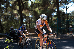 Anna van der Breggen (Rabo Liv) on the final climb at Giro Rosa 2016 - Stage 6. A 118.6 km road race from Andora to Alassio, Italy on July 7th 2016.