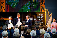 AMSTERDAM - King Willem-Alexander opens the exhibition 'Van Gogh & Japan' at the Van Gogh Museum in Amsterdam. ROBIN UTRECHT<br /> AMSTERDAM - Koning Willem-Alexander opent de tentoonstelling 'Van Gogh & Japan' in het Van Gogh Museum in Amsterdam.  ROBIN UTRECHT