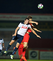 STEVENAGE, ENGLAND - Monday, September 19, 2016: Tottenham Hotspur's Joe Muscatt in action against Liverpool during the FA Premier League 2 Under-23 match at Broadhall. (Pic by David Rawcliffe/Propaganda)