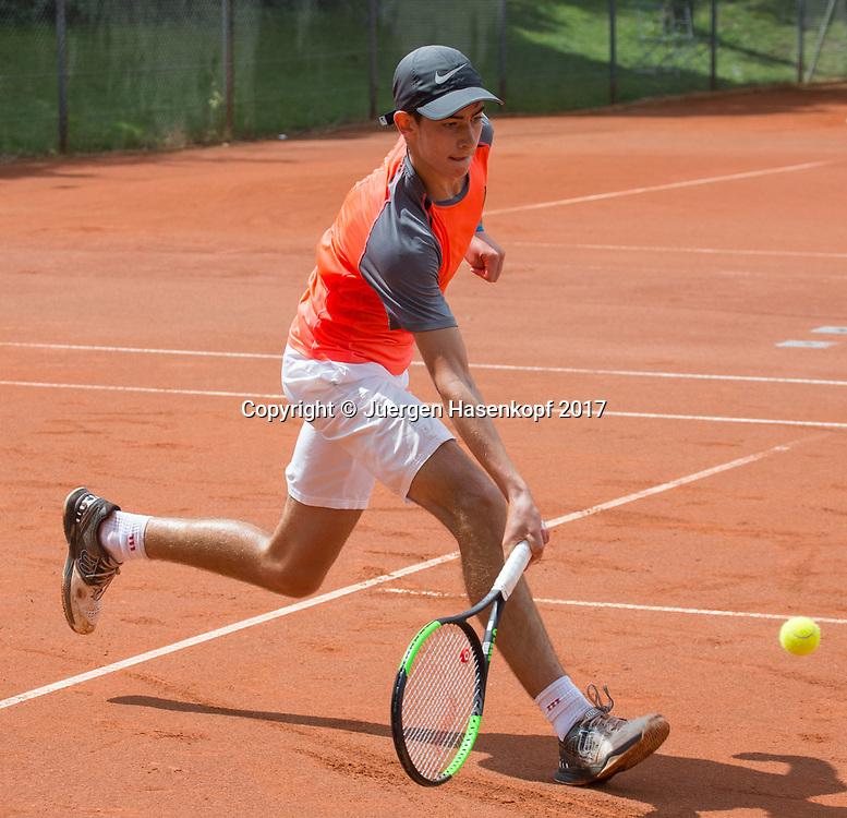 MATTEO FEGGI (GER) Bavarian Junior Open 2017, Tennis Europe Junior Tour, BS16<br /> <br /> Tennis - Bavarian Junior Open 2017 - Tennis Europe Junior Tour -  SC Eching - Eching - Bayern - Germany  - 9 August 2017. <br /> &copy; Juergen Hasenkopf