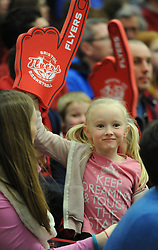 Spectator at SGS Wise Arena for the Bristol Flyers game against Manchester Giants - Photo mandatory by-line: Paul Knight/JMP - Mobile: 07966 386802 - 07/02/2015 - SPORT - Football - Bristol - SGS Wise Arena - Bristol Flyers v Manchester Giants - Bristol Basketball League