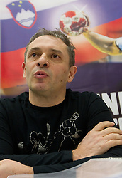 Tone Tiselj, head coach of Slovenia's women team during meeting of RZS - Handball federation of Slovenia, on March 9, 2011 in SRC Stozice, Ljubljana, Slovenia. (Photo By Vid Ponikvar / Sportida.com)