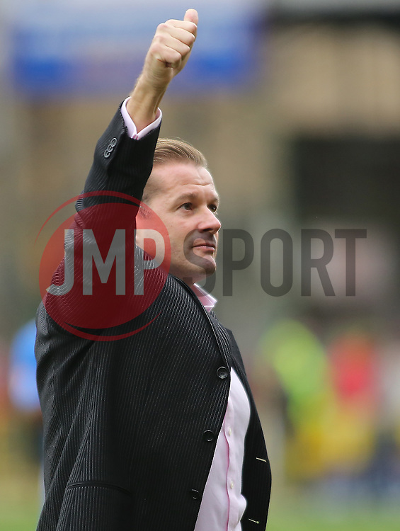 Peterborough United Manager Graham Westley gives the thumbs up following the full-time whistle - Mandatory byline: Joe Dent/JMP - 07966 386802 - 10/10/2015 - FOOTBALL - County Ground - Swindon, England - Swindon Town v Peterborough United - Sky Bet League One