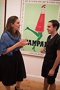 Private view for the Art of Campari, The Estorick Collection,  Islington. London. 3 July 2018