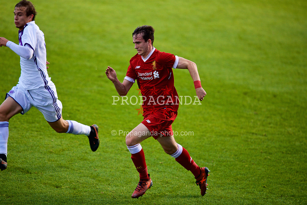 BIRKENHEAD, ENGLAND - Wednesday, November 1, 2017: Liverpool's Liam Millar during the UEFA Youth League Group E match between Liverpool and NK Maribor at Prenton Park. (Pic by David Rawcliffe/Propaganda)